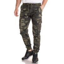 709ce6bd44d83 Pantalon jogg slim camouflage avec poches latérales pour homme