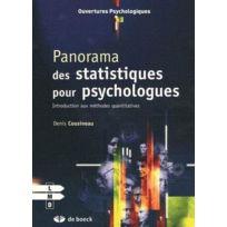 De Boeck Superieur - panorama des statistiques pour psychologues ; introduction aux méthodes quantitatives