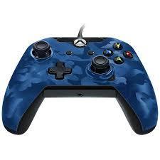 Manette filaire Xbox One Bleue Camo