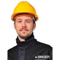 SINGER FRERES - Casque de chantier SINGER en polyéthylène - Jaune - CAS5RSY