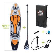 """ALICE'S GARDEN - Stand Up Paddle Gonflable – Magma 10'10"""" - 15 cm d'épaisseur - avec pompe haute pression, pagaie, leash, kit de fixation pour caméra et sac de rangement inclus"""