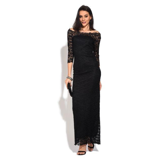 ce5aa0d49cb88 Yours - Robe longue Zoe Noir - pas cher Achat   Vente Robes ...