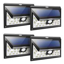 alpexe 4 pack 24 led lampe solaire dtecteur de mouvement clairage de - Eclairage Led Exterieur Pour Terrasse