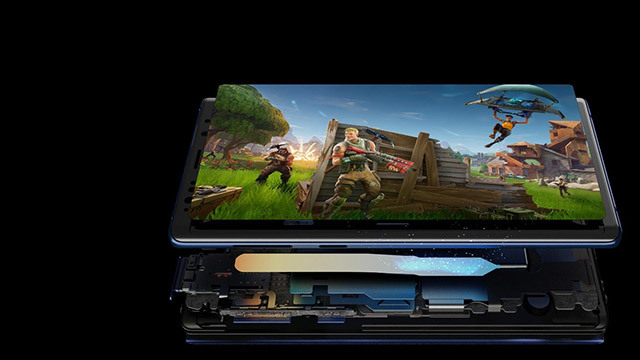 La vue intérieure du Samsung Galaxy Note 9