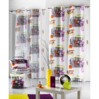 Bonareva - Rideau panneau polyester new york brooklyn 140x260 cm à oeillets