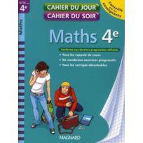 Magnard - Cahiers Du Jour/ Soir ; mathématiques ; 4ème édition 2010