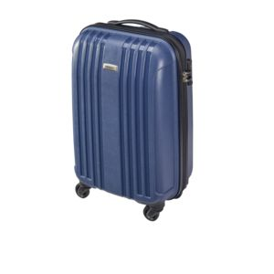 carrefour valise rigide 4 roues pp 56 cm bleu marine pas cher achat vente valises. Black Bedroom Furniture Sets. Home Design Ideas