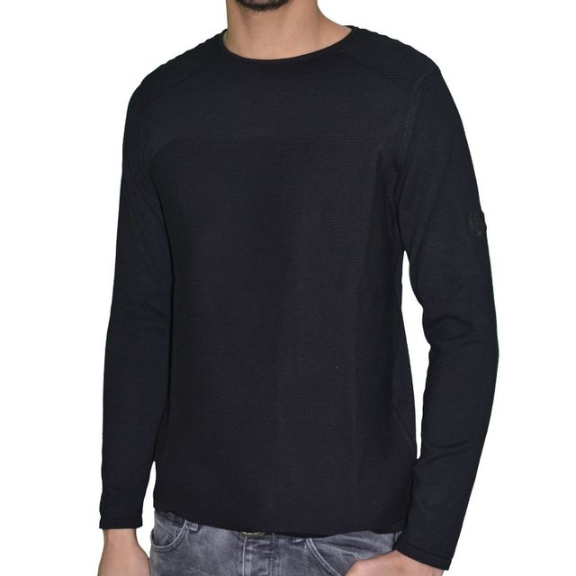 38dfe68df4f Armani - En Solde Pull - Homme - Col Rond - Sweater Coton 05 - Noir - pas  cher Achat   Vente Sweat homme - RueDuCommerce