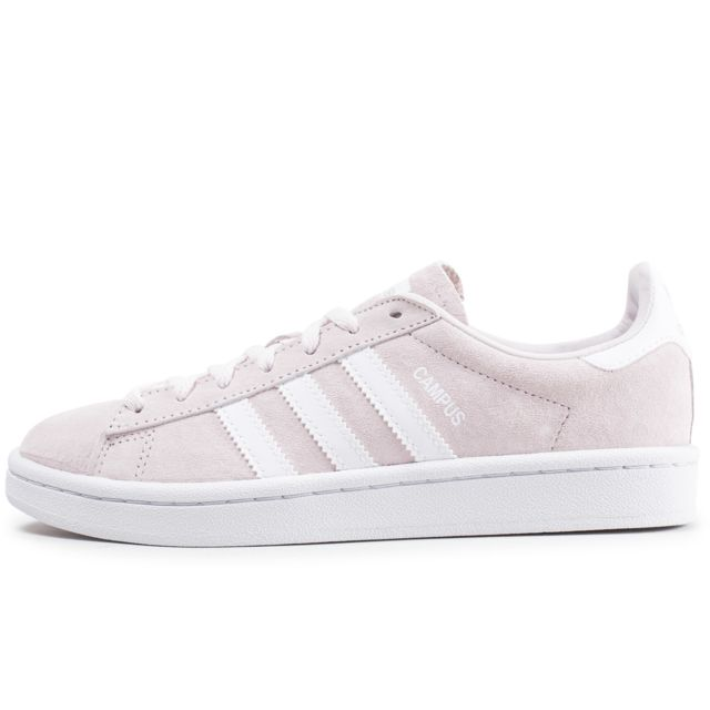 on feet shots of new cheap good selling Adidas - Campus Rose Clair Et Blanche - pas cher Achat ...