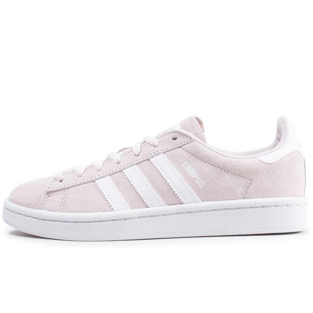 Adidas - Campus Rose Clair Et Blanche - pas cher Achat ...