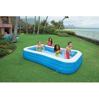 Intex - Piscine gonflable rectangulaire pour enfant 305x183x56cm Swim Center