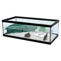 Zolux - Aquarium Pour Tortue D'EAU Tortum 75 Noir + Filtre