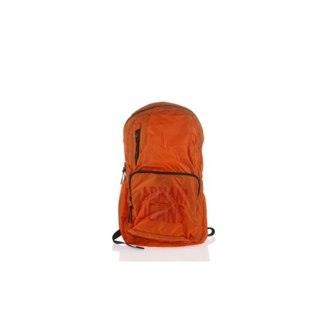 2d669062f4 ... Armani Ea7 - Armani Jeans - Sac a Dos Pliable en Polyamide Orange -  Homme ...