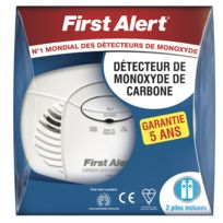 First Alert - Détecteur de monoxyde de carbone garantie 5 ans
