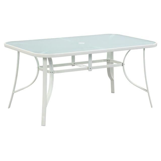 HABITAT ET JARDIN Table de jardin Cordoba - Phoenix - 6 places - Blanc