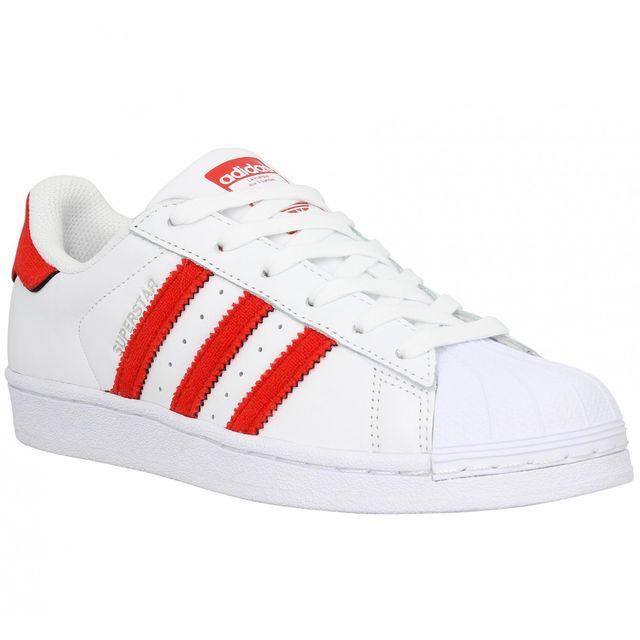 Adidas - Superstar cuir Femme-36 2/3-Blanc Red - pas cher ...