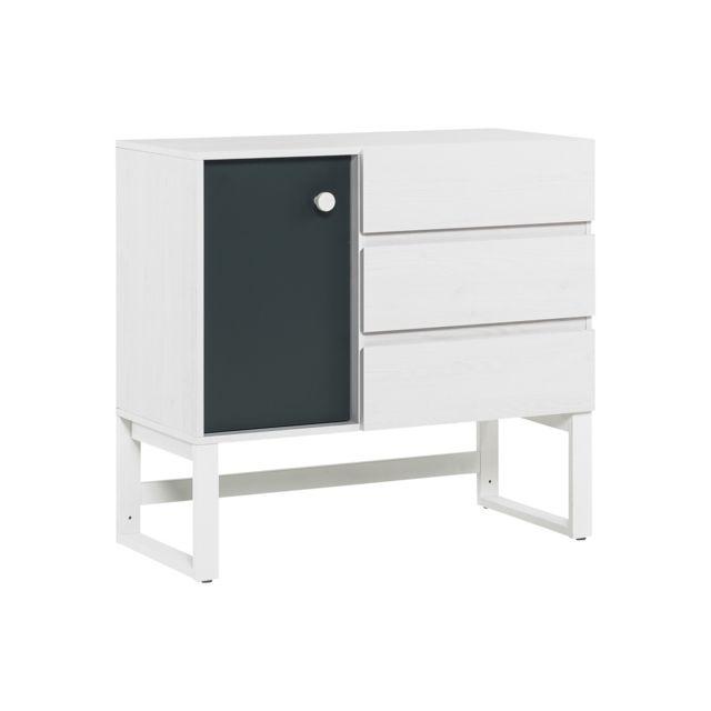 Vox Commode 3 tiroirs Nest - Blanc Gris
