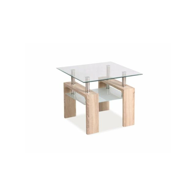 code promo 044b9 c807c Justyou - Lisa D Table basse Sonoma Chene 55x60x60 cm - pas ...