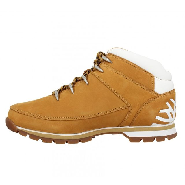 Timberland - Euro Sprint velours Homme-44-Ocre + Blanc Beige