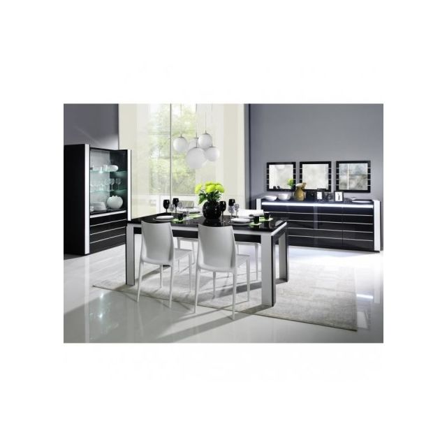 Price Factory - Table 160 cm + 4 chaises Lina. Table pour salle à ...