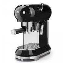 Smeg - Machine à café Expresso Années 50 - 15 Bars Noir Ecf01BLEU