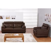 canap cuir buffle achat canap cuir buffle pas cher rue du commerce. Black Bedroom Furniture Sets. Home Design Ideas