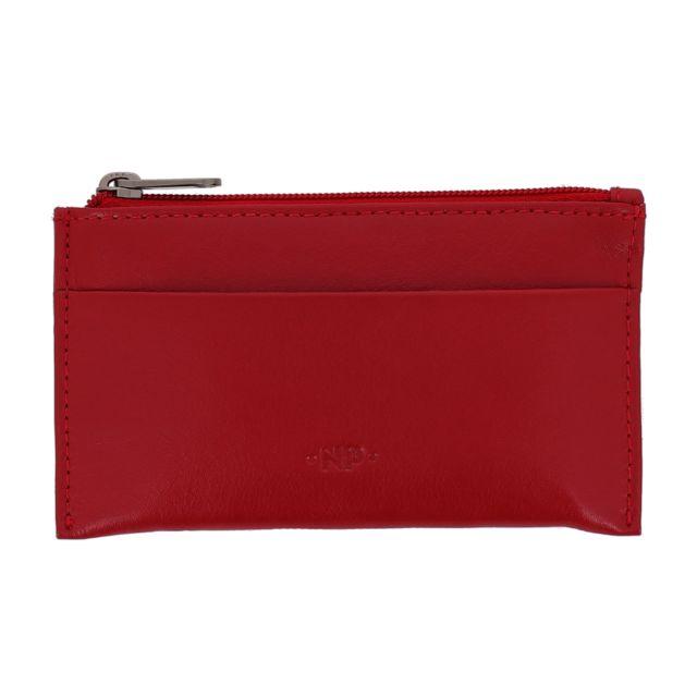 87d2b8b705b Nuvola Pelle - Porte-clés et Porte-monnaie en cuir Nappa véritable Pochette  étui avec zip et 2 anneaux pour les clés Rouge - pas cher Achat   Vente ...