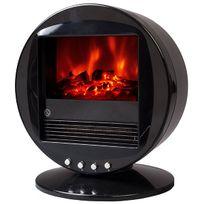 Chemin'ARTE - cheminée électrique 2000w noir - fire bowl noir