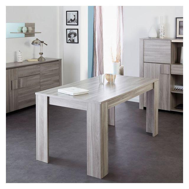 Dansmamaison Table de repas rectangulaire - Rawern - L 160 x l 88 x H 75 cm