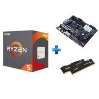Processeur Ryzen 5 1500X + Carte mère PRIME X370-PRO Ryzen - Socket AM4 + HyperX Fury 16 Go 2 x 8 Go DDR4 2133 MHz Cas 14
