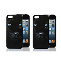 Platyne - Coque effet 3D pour iPhone 5 C en Pvc - Panthere noire