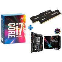 INTEL - Core i7-6800K 3.40GHz + HyperX Fury Black Series 16 Go 2 x 8 Go DDR4 2666MHz Cas 15 + STRIX-X99-GAMING
