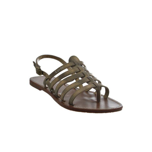 Les P tites Bombes - sandales - nu pieds odelia beige 36 - pas cher Achat   Vente  Sandales et tongs femme - RueDuCommerce b817faa2a934