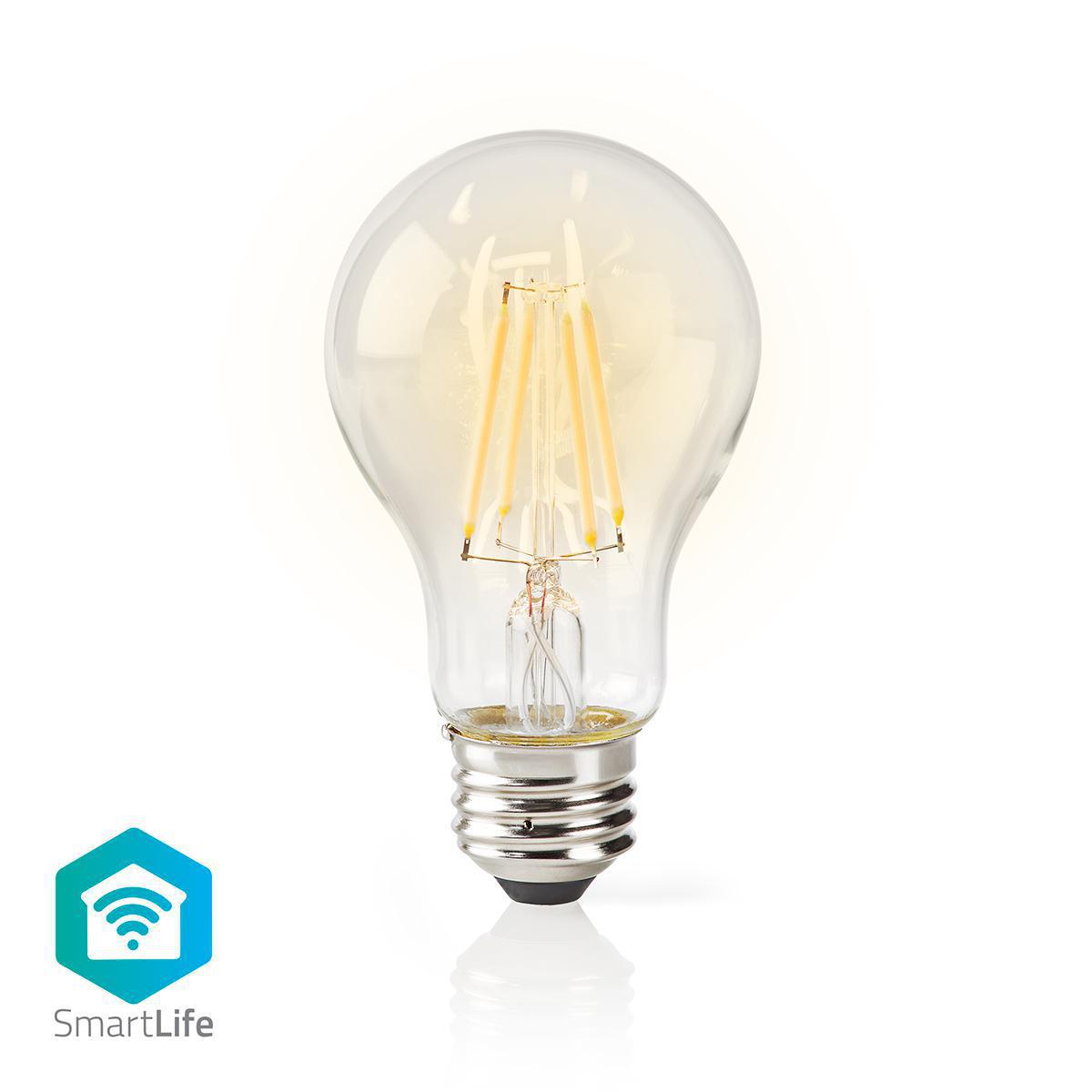 Ampoule LED Intelligente Wi-Fi - Filament - E27 - Blanche - A60