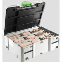 Festool - Coffret 306 dominos d'assemblage bois Ds domino Xl