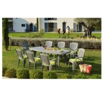 CARREFOUR - Ensemble Table Extensible SORRENTO + 6 Fauteuils FLORENCE
