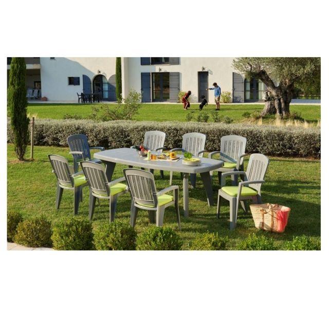 Carrefour Ensemble Table Extensible Sorrento 6 Fauteuils