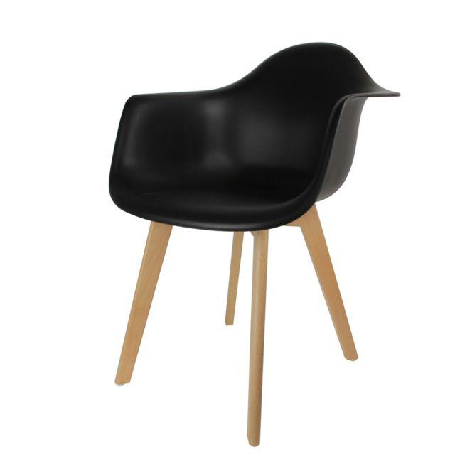 The Concept Factory Fauteuil Scandinave Mobiliers Design - Noir