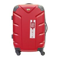 CARREFOUR - Valise rigide - 61 cm - ABS 4 roues - Rouge