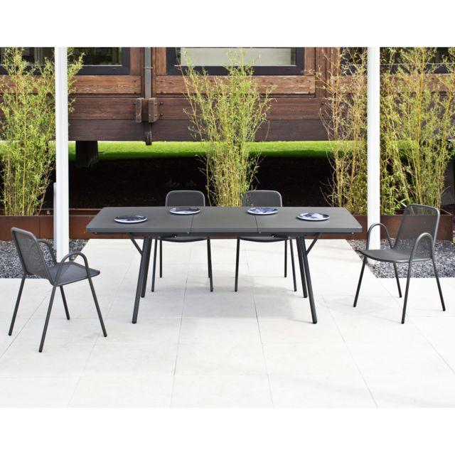 Oasi by Emu - Salon de jardin avec table extensible 160/210cm et 4 ...