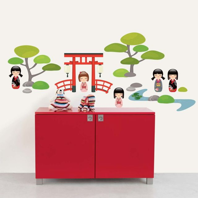 Sticker mural Jardin japonais