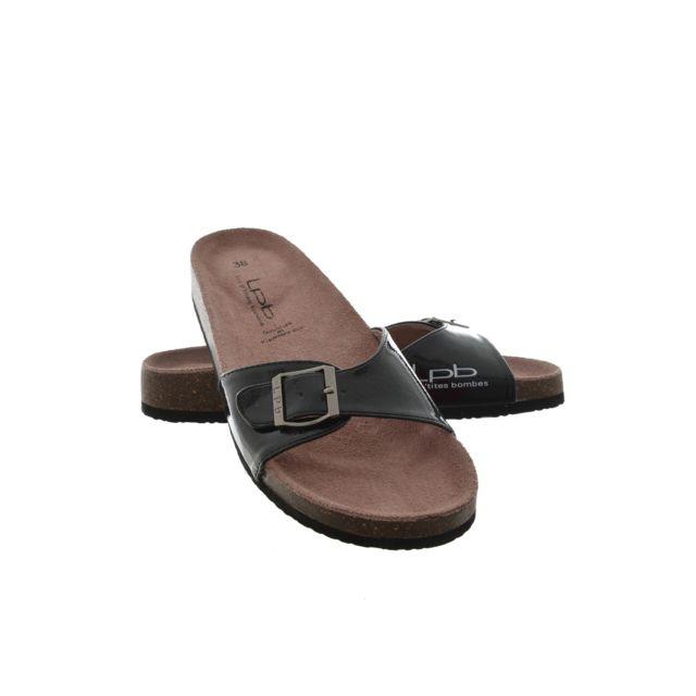 25e518fe96a9 Les P tites Bombes - sandales - nu pieds opaline noir 39 - pas cher Achat   Vente  Sandales et tongs femme - RueDuCommerce