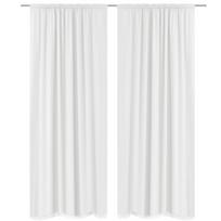 double rideaux noir et blanc achat double rideaux noir et blanc pas cher rue du commerce. Black Bedroom Furniture Sets. Home Design Ideas