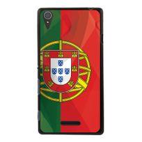 Kabiloo - Coque Souple en gel pour Sony Xperia T3 avec impression drapeau du Portugal