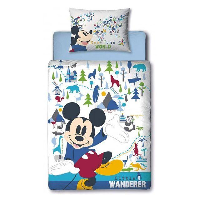Mickey Disney Wanderer Parure De Lit Bebe Housse De Couette