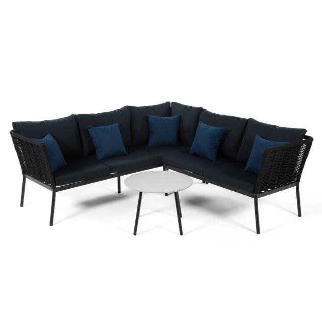 marque generique salon bas de jardin 5 places minaya table basse canap d - Canape Bas