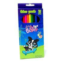 Littlest Pet Shop - Littlest petshop - 12 crayons de couleur