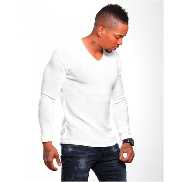 Beststyle - Pull homme classe blanc - pas cher Achat   Vente Pull ... 3806d76db9e
