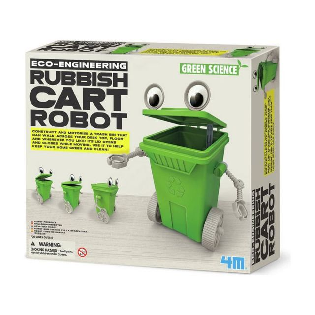 4M - Kidz Labs - Kit de fabrication Green Science : Robot Poubelle