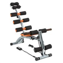 CAPITAL SPORTS - Sixish Core Appareil banc de musculation abdominaux -orange/noir